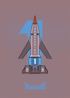 Illustrations of the Scientific Rescue Team the Thunderbirds. 5, 4, 3, 2, 1 Thunderbirds are GO! Julian Burford