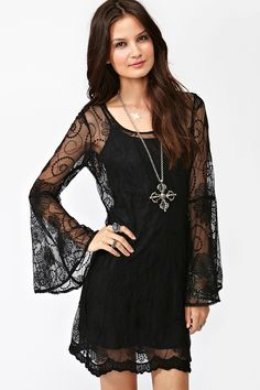Spellbound Dress - Black. part of me wonders if I like this dress mainly for its title. whatever, it's still cute!