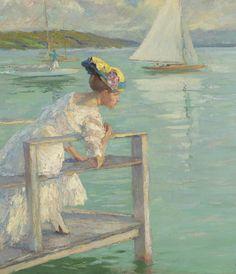 On the Dock - Edward Cucuel