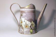 Королевская орхидея - лейка,орхидея,подарок девушке,декор лейки,декор для интерьера