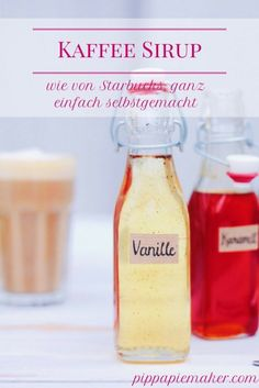 Endlich eine Möglichkeit Caramel Frappuccino zu Hause zu machen! So ein einfaches Rezept für selbstgemachten Kaffeesirup...