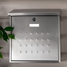 Premium Maxi Locking Wall-Mount Mailbox - Stainless Steel