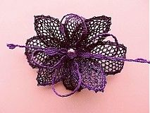 Insignias / Broche - orquídea púrpura - 2874726