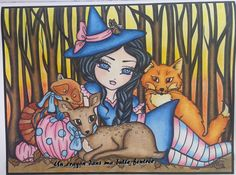 """Woodland Witch""  Enchanted Halloween d'Hannah Lynn"