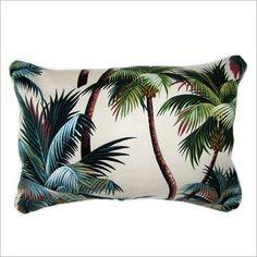 Sanctuary Palm Trees Fabric Cushion Escape to Paradise   Wayfair