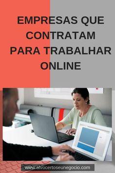 5 Empresas Que Contratam Home Office Get Paid Online, Online Cash, Online Work, Earn Money From Home, How To Make Money, Online Marketing, Digital Marketing, Internet Jobs, Home Office