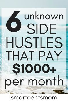 Side hustle ideas that you can do with your full time job and $1000 or more per month. This list of side hustles are new jobs that you can work at home in your spare time and still make extra cash! Check to see if there's a job you want to do and get started today!