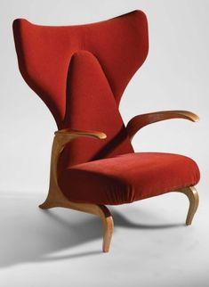 Lounge Chair by Carlo Mollino, French Furniture, Mid Century Modern Furniture, Unique Furniture, Vintage Furniture, Furniture Design, Inexpensive Furniture, Midcentury Modern, Silla Art Deco, Muebles Art Deco