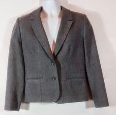 Ladies Pendleton Women's 100% Virgin Wool Jacket Blazer Gray #Pendleton #Blazer