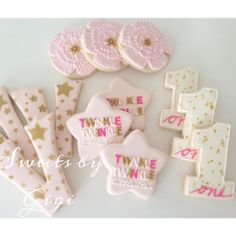 Twinkle Twinkle Little Star First Birthday Cookies