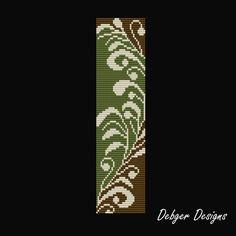 Natures Innocence 2 Loom Bracelet Cuff Pattern par LoomTomb
