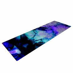 KESS InHouse Claire Day Lakia Yoga Exercise Mat 72 x 24 BluePurple ** Check out the image by visiting the link. (This is an affiliate link)