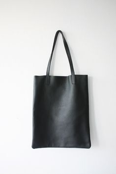 ANYA - Basic Black Leather Tote Bag by MISHKAbags on Etsy https://www.etsy.com/listing/198513563/anya-basic-black-leather-tote-bag