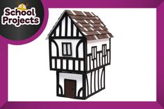 A design so classic, elements are still used in buildings today. Build your own home with this how to make a Tudor house project. - Tudor Houses 4 U History Projects, School Projects, Projects For Kids, Home Projects, School Ideas, Tudor House, Kids Homework, Homework Ideas, Fire Crafts