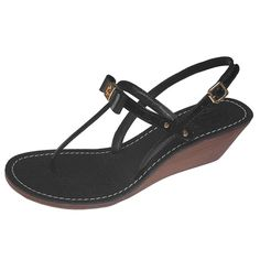 b111853d48ad Tory Burch Shoes Kailey Wedge Sandals Veg Leather Patent Black 9 B(M) US