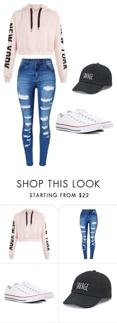 """Untitled #49"" by moriartylauren on Polyvore featuring WithChic, Converse and SO"