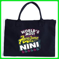 World's Most Awesome Nini, Mother's Day Gift - Tote Bag - Totes (*Amazon Partner-Link)