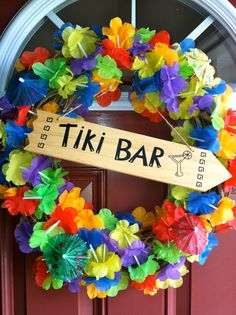 Items similar to Summer Luau Lei Wreath on Etsy Aloha Party, Luau Theme Party, Hawaiian Luau Party, Hawaiian Birthday, Hawaiian Theme, Tiki Party, Luau Birthday, Beach Party, Thema Hawaii