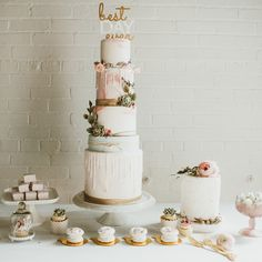 love love love this cake by toronto's cakelaine. So beautiful. seen here as part of the sweetest blog post via creative bag, a fun project. pretty bohemian wedding decor inspiration | boho wedding cake and sweets