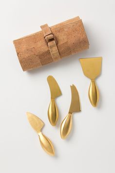 Gold Imperial Cheese Knives / Anthropologie.com