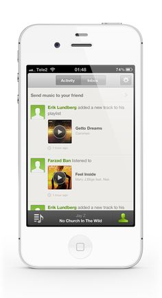 Spotify redesign by Farzad Ban, via Behance