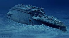 Ocean explorer Robert Ballard, who is responsible for the discovery of the Titanic shipwreck, says he may have discovered evidence of the Great Flood described in the Book of Genesis. Titanic Art, Titanic History, Rms Titanic, Titanic Underwater, Hms Hood, Sea Floor, Grand Staircase, Shipwreck, Model Ships