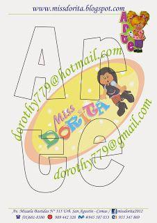 Miss Dorita: Niña con letrero de Arte (Paso a paso)