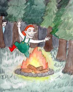 """""""Le Nain Tracassin"""", histoire que j'ai illustrée pour ebookids.com"""