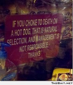 Funny Warning Sign -