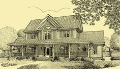 Country Style House Plans, Farmhouse Plans & 4 Bedroom Home Plans