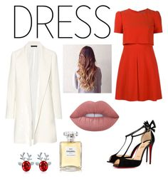 """""""Christmas night out❄🎄🎁"""" by nanalexia on Polyvore featuring Alexander McQueen, The Row, Lime Crime and Chanel"""