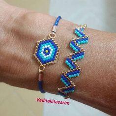 Güzel günlerde kullanın N… Miyuki bracelets. Use on beautiful days Nursen hm.😊✔ Different colors and models, customized designs 👉DM👈 that Umeda the is to I Bead Loom Patterns, Bracelet Patterns, Beading Patterns, Bead Loom Bracelets, Woven Bracelets, Seed Bead Jewelry, Beaded Jewelry, Custom Jewelry, Handmade Jewelry