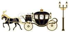 horse and carriage: Horse-drawn carriage Illustration