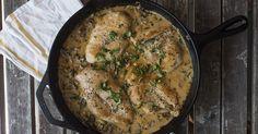 Spinach Chicken Alfredo Skillet