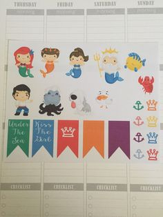 Little mermaid planner stickers for erin by PlannableDesigns
