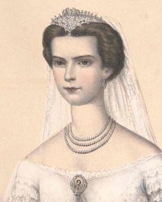 Herzogin Elisabeth von Bayern bei ihrer Hochzeit mit Kaiser Franz Josef von Österreich
