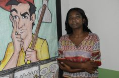 O combate ao trabalho escravo-Maria Divina Lopes, da coordenação do MST de Açailândia (MA), faz parte de um grupo que batalha por um processo de conscientização e convencimento das famílias vítimas do trabalho escravo.  © ©Greenpeace/Ismar Ingber