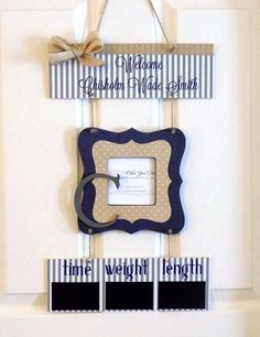 Perfect Welcome Baby Boy Navy Tan U0026 Gray Rustic Hospital By OliveYewToo