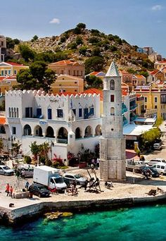 Symi Island, Greece Cool Places To Visit, Great Places, Places To Travel, Beautiful Places, Patras, Greece Rhodes, Places In Greece, Greek Isles, Greece Travel