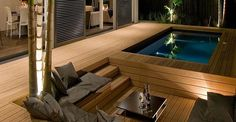 Small pool in deck