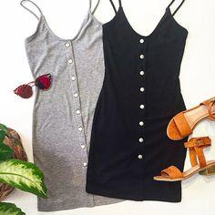 Ribbed Snap Front Mini Dress