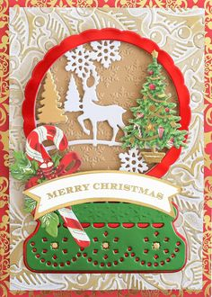 HSN July 14th, 2020 - Product Preview 3 - Anna Griffin Christmas Snow Globes, 12 Days Of Christmas, Vintage Christmas, Anna Griffin Cards, Interactive Cards, Easel Cards, Christmas Scrapbook, Shaker Cards, Making Ideas
