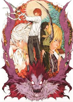 Death Note - Ryuk and Light Yagami by Takeshi Obata Death Note Anime, Death Note デスノート, Manga Anime, Comic Manga, Anime Art, Amane Misa, Hirunaka No Ryuusei, L Lawliet, Comics