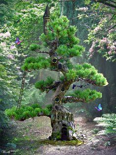 Leprechaun tree house by Ringoz 30 Beautiful Nature Inspired Artworks
