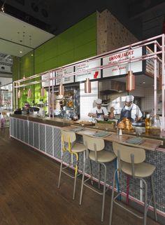 Union Jacks by Blacksheep for Jamie Oliver #architecture #interiordesign #restaurant