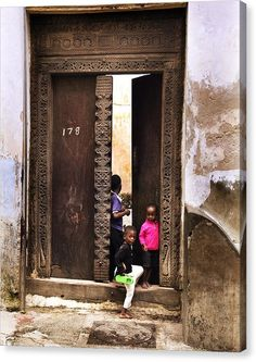 Labor Day Special Stretched #CanvasPrint  Kids Playing Zanzibar http://snip.ly/omisz?utm_content=bufferefda8&utm_medium=social&utm_source=pinterest.com&utm_campaign=buffer #HomeDecor  #fineartphotography #fineartamerica