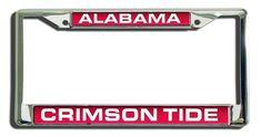 Alabama Crimson Tide License Plate Frame Laser Cut Chrome