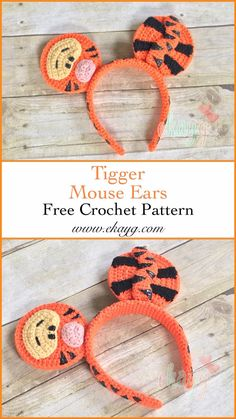 Tigger Mouse Ears – ekayg crafts DIY Tigger themed Mickey Mouse ears for your next trip to Disney! Crochet Motifs, Diy Crochet, Crochet Crafts, Crochet Baby, Crochet Projects, Knitted Baby, Crochet Mickey Mouse, Mickey Mouse Ears, Disney Ears