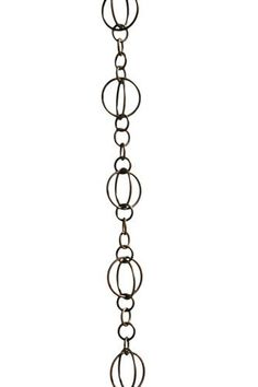 Patina Products R256 Antique Copper Life Circles Rain Chain Full Length by Patina. $76.42. Hanging attachment included. May be shortened or combined with another chain to create various lengths. Rainwater creates a soothing melody as it flows down the chain. Easily attaches to existing gutter systems. Crafted from stainless steel and electroplated copper. Bring the harmony of water to your backyard sanctuary. A rain chain is a lovely and functional alternative to the co...