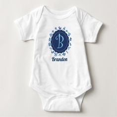 """Customizable Letter """"B"""" Baby Bodysuit - baby shower ideas party babies newborn gifts"""